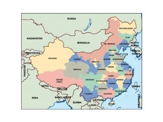 china presentation map