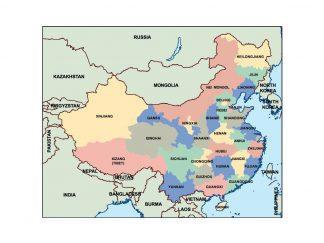 china presentation map
