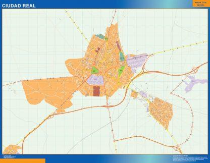 ciudad real wall map