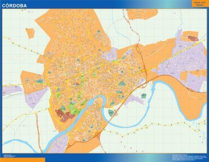 cordoba wall map