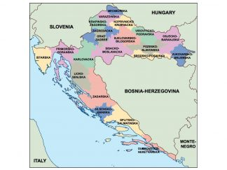 croatia presentation map