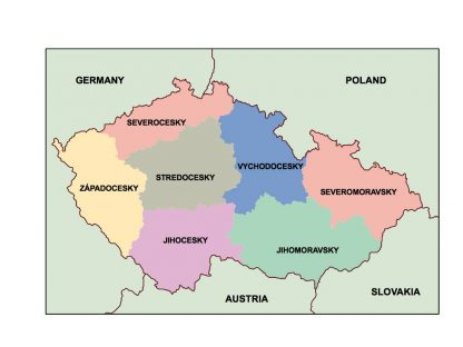 czech republic presentation map