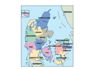 denmark presentation map