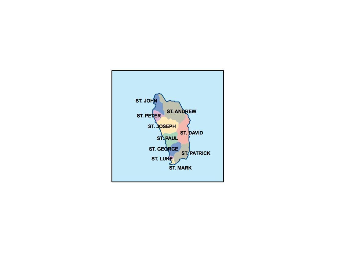 dominica presentation map