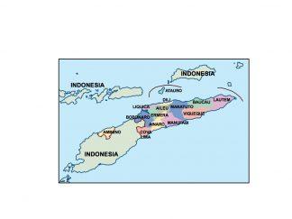east timor presentation map