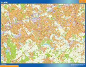 essen wall map