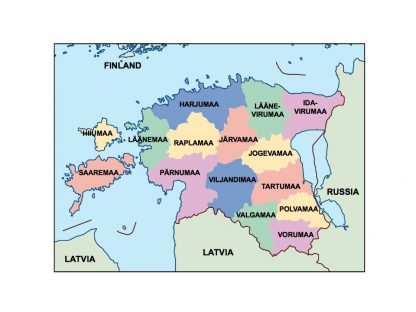 estonia presentation map