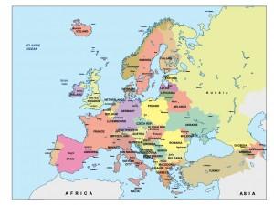 europe presentation map
