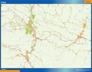 foix wall map