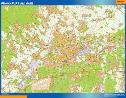frankfurt am main wall map