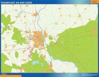 frankfurt an der oder wall map