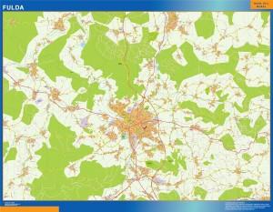 fulda wall map