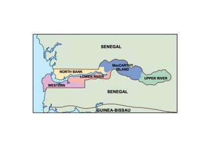 gambia presentation map