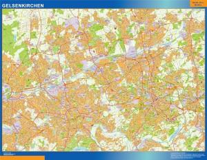 gelsenkirchen wall map