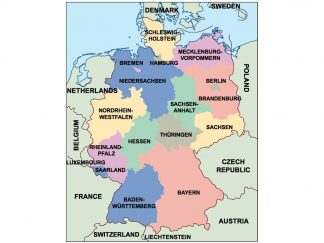germany presentation map