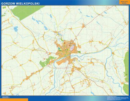 gorzow wielkopolski Wall Map