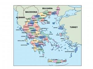 greece presentation map