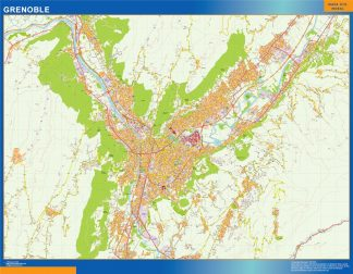 grenoble wall map
