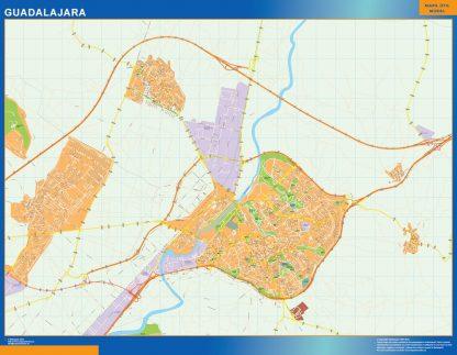 guadalajara wall map