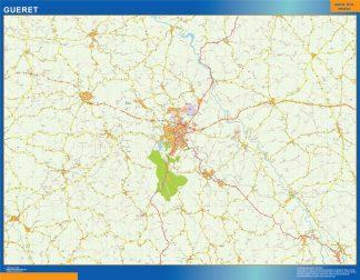 gueret wall map