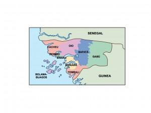 guinea bissau presentation map