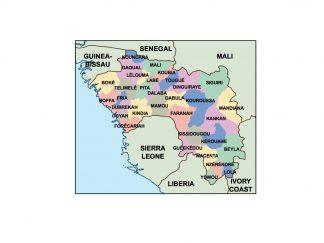 guinea presentation map