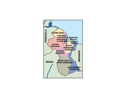 guyana presentation map