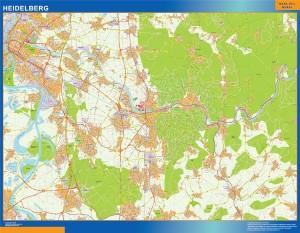 heidelberg wall map