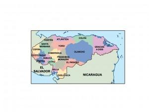 honduras presentation map