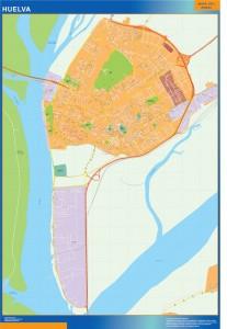huelva wall map