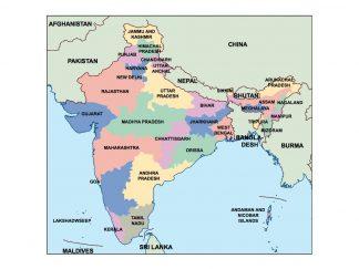 india presentation map