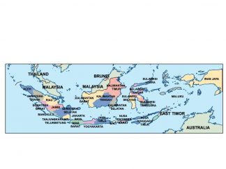 indonesia presentation map