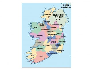 ireland presentation map