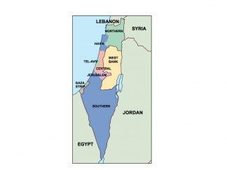 israel presentation map
