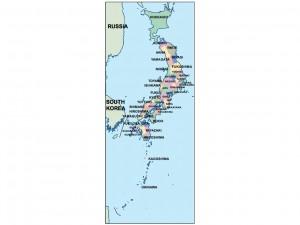 japan presentation map