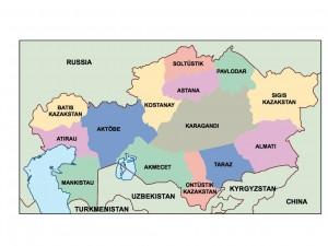 kazakhstan presentation map