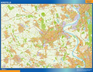 krefeld wall map