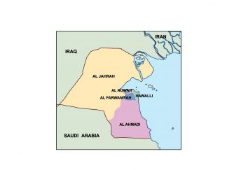 kuwait presentation map