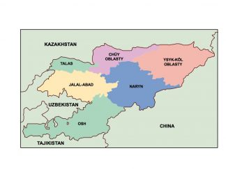 kyrgyzstan presentation map