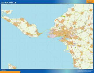 la rochelle wall map
