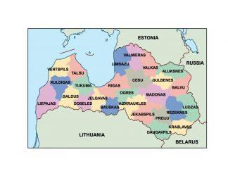 latvia presentation map