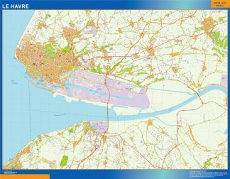 le havre wall map