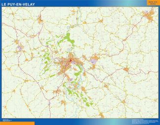 le puy wall map