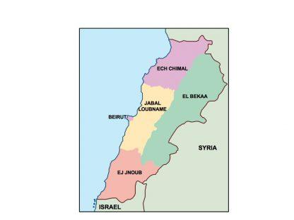 lebanon presentation map