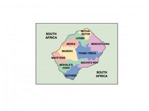 lesotho presentation map