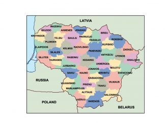 lithuania presentation map