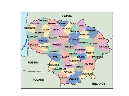 lithuania presentation map