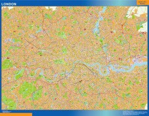 london wall map