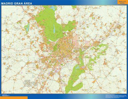madrid gran area wall map
