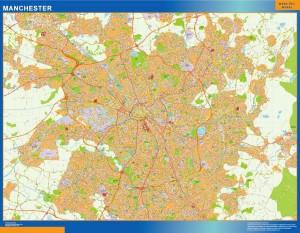manchester wall map